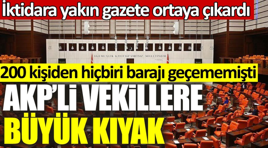 İktidara yakın gazete ortaya çıkardı! AKP'li vekillere büyük kıyak