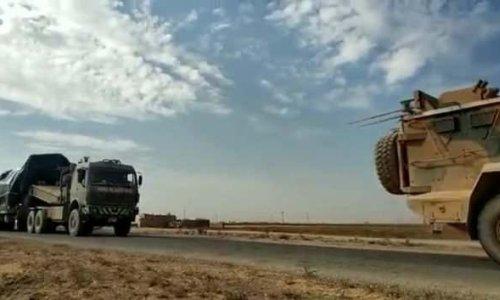 PKK'ya yönelik operasyon için zırhlı konvoylar Tel Abyad'da