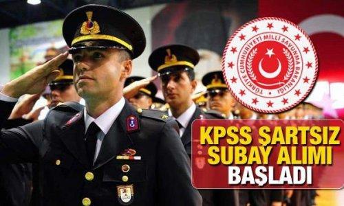 Milli Savunma Bakanlığı KPSS şartsız subay alımı süre daralıyor! 2021 Subay alımı başvuru ekranı